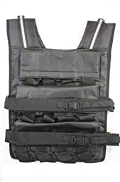 Mountaineer 50 Lbs Weight Vest, Weights Included, 24 Bags of Removable Weights