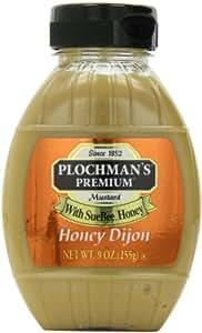 Plochman Honey Dijon Mustard, 9-Ounce Squeeze Bottles (Pack of 6)