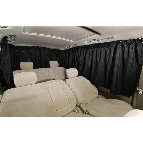 ボンフォーム(BONFORM) 車中泊 シャットカーテン フロント3点 BK 7901-03