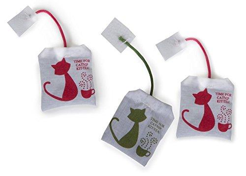 Petlinks Tea Zing Cat Toy Catnip Tea Bag Toys, 3 Pack
