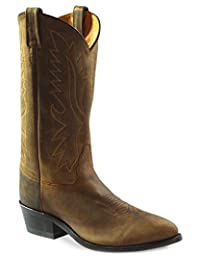 Old West Men's Distressed Polanil Western Cowboy Boot