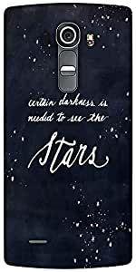 Snoogg Darkness To See The Stars Designer Protective Back Case Cover For LG G4
