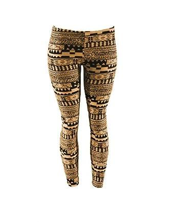 Colorful Native American, Aztec Smudge Pattern Fashion Leggings (Small ...
