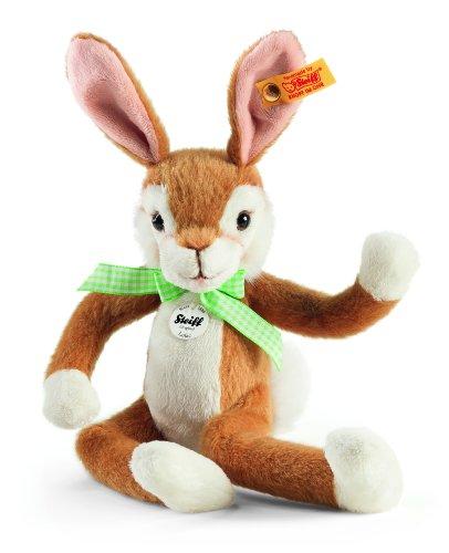 Steiff Lulac Dangling Rabbit Plush, Golden Brown front-728597
