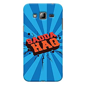 ColourCrust Samsung Galaxy J3 (2016) Mobile Phone Back Cover With Sadda Haq Quirky - Durable Matte Finish Hard Plastic Slim Case