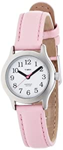 Timex Kids' T79081 My First Timex Easy Reader Pink Leather Strap Watch