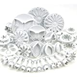 33 piece cake decorating / sugarcraft set with cutters / plungers for flowers / leaf / shapes by Kurtzy TM