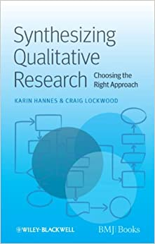 synthesising qualitative and quantitative Methods for synthesizing qualitative evidence dr ruth garside senior lecturer in evidence synthesis  for the synthesis of qualitative and quantitative research in.