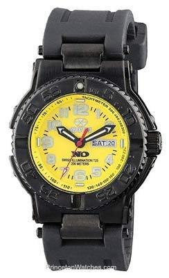 REACTOR Men's 59807 Trident Never Dark Yellow Dial Black Rubber Strap Sport Watch