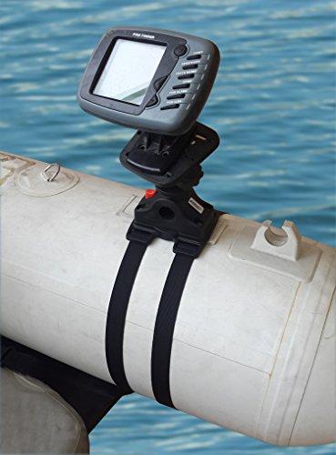 Brocraft fishing float tube fish finder transducer mount for Float tube fish finder