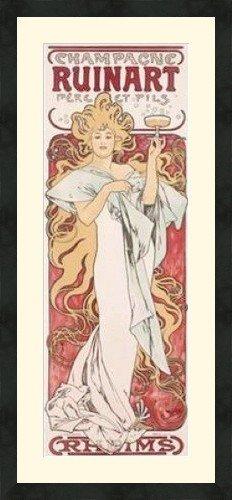 champagne-ruinart-art-by-alphonse-mucha-premier-quality-framed-museum-matted-art-nouveau-print-42x26