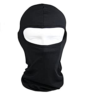 Lycra Fabrics Ski Face Mask Motorcycle Cycling Bike Bandana Hiking Skateboard Balaclava (black) from SL