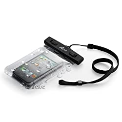 Acase 防水ケース クリア XL ストラップ 付 for iPhone6s / iPhone6 / Xperia A4 / Xperia Z3 compact / iPhone5S / iPhone5C / GALAXY S4 / AQUOS CRYSTAL 2 / ARROWS Waterproof シースルー 防水 ケース 防水保護等級 : IPx8 【国内正規品】
