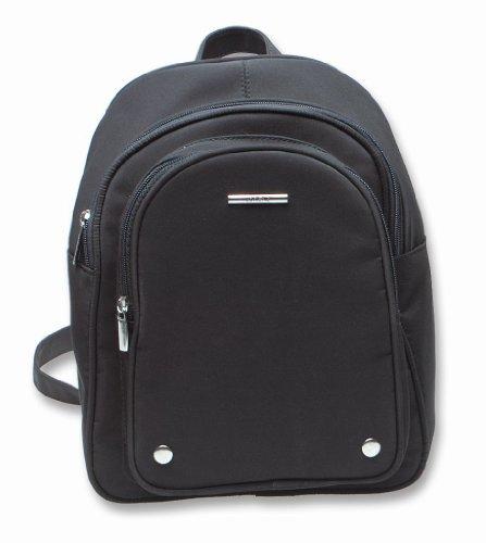 Lorenz Small Microfibre Backpack Rucksack Bag Black