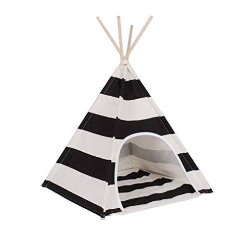 Free Love@new design white and black stripe design Pet Kennels Pet Play House Dog Play Tent Cat /Dog Bed