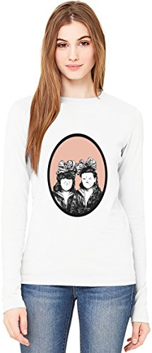 Twisted Sisters T-Shirt da Donna a Maniche Lunghe Long-Sleeve T-shirt For Women| 100% Premium Cotton| DTG Printing| XX-Large