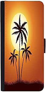 Snoogg Vector Summer Illustration With Palm Trees Graphic Snap On Hard Back L...