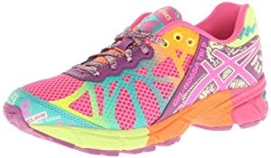ASICS Gel-Noosa Tri 9 GS Running Shoe (Infant/Toddler/Little kid/Big Kid),Hot Pink/Neon Purple/Flash Yellow,7 M US Big Kid