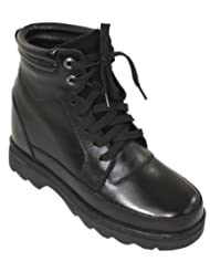 CALDEN - K881801 - 5.2 Inches Taller - Height Increasing Elevator Shoes (Black Motorcycle Boots)