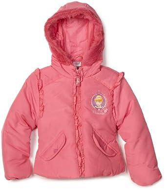 Disney Princess Little Girls'  Hooded Princess Jacket, Coral Pink, 2T