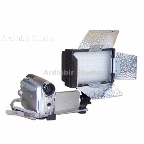 Pro Continuous Video Led Light With Barndoor For Canon Dc410, Dc310, Dc320, Dc330, Dc220, Dc100, Dc230, Dc210, Optura 20, 50, 40, 600, 300, 500, Xi, Pi, S1, Elura 100, 50, 60, Es8400V, Hr10