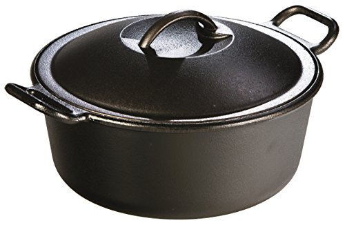 Lodge P10D3 Pro-Logic Cast Iron Dutch Oven, Pre-Seasoned, 4-Quart