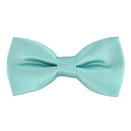 iGirlDress Solid Formal Tuxedo Pre-Tied Bow Tie for Boys (Tiffany Blue)