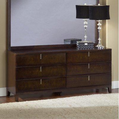 Modus Furniture International Legend Wood 6-Drawer Dresser, Chocolate Brown front-617373
