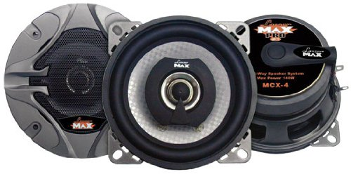 Lanzar Mcx4 Max Pro 140 Watts 4-Inch 2-Way Speakers