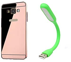 Novo Style Back Cover Case with Bumper Frame Case for Samsung Galaxy A710 A7 (2016)  Rose Gold + Mini USB LED Light Adjust Angle / bendable Portable Flexible USB Light