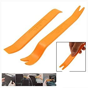 niceEshop(TM) 1 Set(2pcs) No-Scratch Audio Refit Set Car Panel Removal Tool-Orange