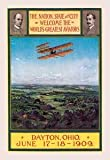 12 X 18 Stretched Canvas Poster Dayton, Ohio Welcomes the Wright Brothers