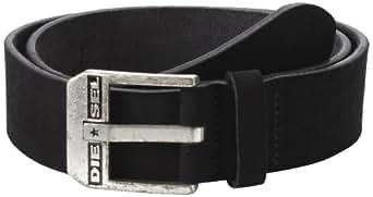 Diesel Men's Blue Star Soft Suede Leather Belt, Black, 75