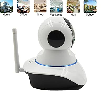 Wireless IP Camera, Forestfish WiFi P2P Security IP Camera DVR HD 720P Home Surveillance Camera with Night Vision Pan(355)/ Tilt(120) Remote Video Monitoring