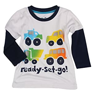 Baby boys and girls infant cute picture clothes long sleeve T shirt XG5011-5T