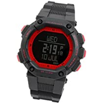 [Lad Weather] Gps Germany Navi Outdoor Digital Compass Quartz 100m Water Resistant Sports Training Heartrate USB Running Walking Cycling Travel Time Free Shipping Alarm Chronograph Watch Pace Calories Unisex Millitary Skiing Black Red