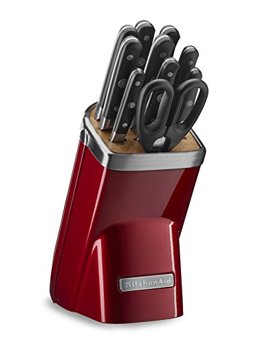 KitchenAid KKFMA11CA Professional Series 11 Piece Cutlery Set, Candy Apple Red