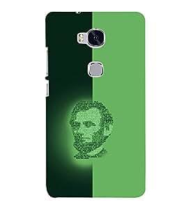 PrintVisa Modern Art Lincoln Face 3D Hard Polycarbonate Designer Back Case Cover for Huawei Honor 5X