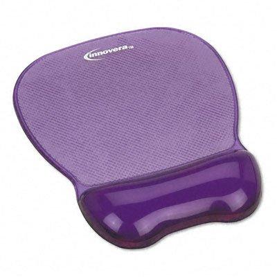 Gel Mouse Pad w/Wrist Rest, Nonskid Base, 8-1/4 x 9-5/8 in., Purple