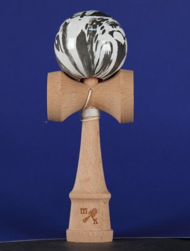 Kendama: Marbleized Skulls, Includes Extra String