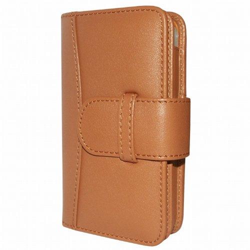 Best Price Apple iPhone 5 / 5S Piel Frama Tan Leather Wallet