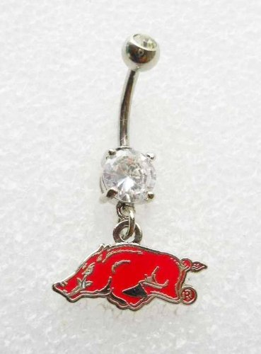 UNIVERSITY OF ARKANSAS RAZORBACKS NAVEL BELLY BUTTON RING at Amazon.com