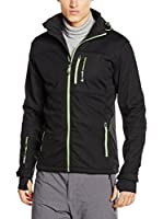 Peak Mountain Chaqueta Soft Shell Canne (Negro / Verde Claro)
