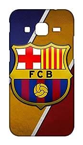 Barcelona Football Club - BARCA Design Mobile Cover for Samsung Galaxy Core Prime - Hard Case Back Cover - FCB Printed Designer Cover - SGCRPFCBB131