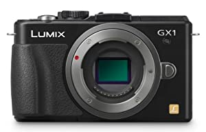 Panasonic Lumix DMC-GX1 16 MP Micro 4/3 Compact System Camera with 3-Inch LCD Touch Screen Body Only (Black)