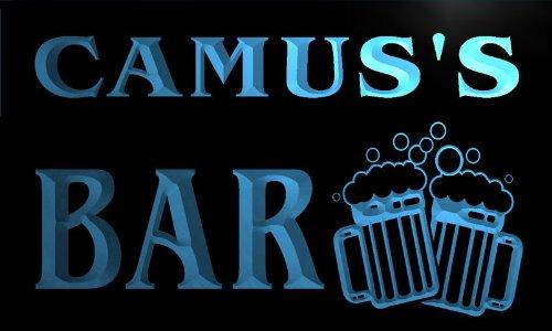 w033211-b-camus-name-home-bar-pub-beer-mugs-cheers-neon-light-sign-barlicht-neonlicht-lichtwerbung