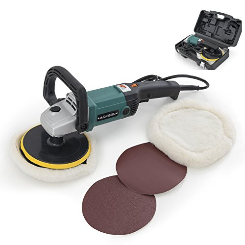 ARKSEN© Electric Polisher Sander, 110v, 6 Speed, 3100RPM, w/ Case