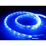 """10Ft Rope Lights; Ocean Blue LED Rope Light Kit; 1.0""""LED Spacing; Christmas Lighting; outdoor rope lighting"""