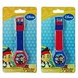 Disney Jake and The Neverland Pirates Digital LCD Wrist Watch Boys Stocking Stuffer - 2 Piece