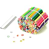 RHX 100pcs Cute 3D Nail Art Fimo Canes Rods Sticks Sticker Decoration With Blade New